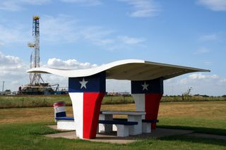 Texas Rest Stop and Drilling Rig